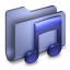 64x64px size png icon of Music Blue Folder