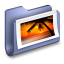 64x64px size png icon of Photos Blue Folder