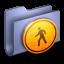 64x64px size png icon of Public Blue Folder