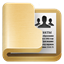 64x64px size png icon of folder contacts