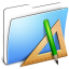 64x64px size png icon of Aqua Smooth Folder Applications