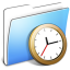 64x64px size png icon of Aqua Smooth Folder Clock