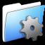 64x64px size png icon of Aqua Smooth Folder Developer