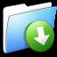 64x64px size png icon of Aqua Smooth Folder DropBox