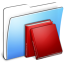 64x64px size png icon of Aqua Smooth Folder Library