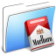 64x64px size png icon of Aqua Smooth Folder Marlboro