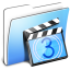 64x64px size png icon of Aqua Smooth Folder Movies