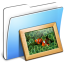 64x64px size png icon of Aqua Smooth Folder Pictures