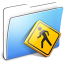 64x64px size png icon of Aqua Smooth Folder Public