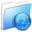 64x64px size png icon of Aqua Smooth Folder Sites