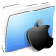 64x64px size png icon of Aqua Stripped Folder Apple
