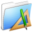 64x64px size png icon of Aqua Stripped Folder Applications