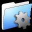 64x64px size png icon of Aqua Stripped Folder Developer