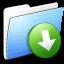 64x64px size png icon of Aqua Stripped Folder DropBox