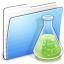 64x64px size png icon of Aqua Stripped Folder Experiments copy