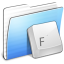 64x64px size png icon of Aqua Stripped Folder Fonts