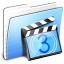 64x64px size png icon of Aqua Stripped Folder Movies