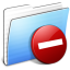 64x64px size png icon of Aqua Stripped Folder Private