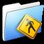 64x64px size png icon of Aqua Stripped Folder Public