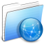 64x64px size png icon of Aqua Stripped Folder Sites