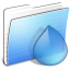 64x64px size png icon of Aqua Stripped Folder Torrents