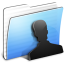 64x64px size png icon of Aqua Stripped Folder Users