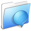64x64px size png icon of Aqua Stripped Folder iChats