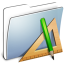 64x64px size png icon of Graphite Smooth Folder Applications