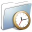 64x64px size png icon of Graphite Smooth Folder Clock