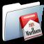 64x64px size png icon of Graphite Smooth Folder Marlboro