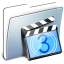64x64px size png icon of Graphite Smooth Folder Movies
