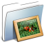 64x64px size png icon of Graphite Smooth Folder Pictures