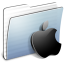 64x64px size png icon of Graphite Stripped Folder Apple