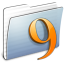 64x64px size png icon of Graphite Stripped Folder Classic