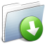 64x64px size png icon of Graphite Stripped Folder DropBox