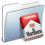64x64px size png icon of Graphite Stripped Folder Marlboro