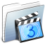 64x64px size png icon of Graphite Stripped Folder Movies
