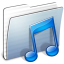 64x64px size png icon of Graphite Stripped Folder Music