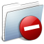 64x64px size png icon of Graphite Stripped Folder Private