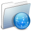 64x64px size png icon of Graphite Stripped Folder Sites