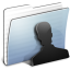 64x64px size png icon of Graphite Stripped Folder Users