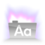 64x64px size png icon of Aurora Text