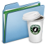 64x64px size png icon of Blue Coffee 2