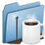 64x64px size png icon of Blue Coffee alt