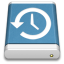 64x64px size png icon of Blue External Drive Backup