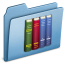 64x64px size png icon of Blue Library