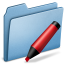 64x64px size png icon of Blue Marker