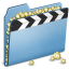 64x64px size png icon of Blue Movies alt