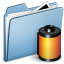 64x64px size png icon of Blue Photo film