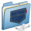 64x64px size png icon of Blue Pocket iPod shuffle